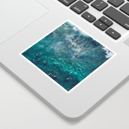 Surfing in the Ocean 2 Sticker