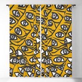 Freddie Eyeballs Golden Yellow Blackout Curtain