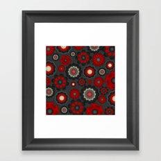 Dark Romance Floral Framed Art Print