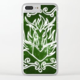 Dragon icon Clear iPhone Case
