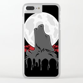 Howl at the Moon (Awoo) Clear iPhone Case