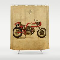 ducati Shower Curtains featuring Ducati 750SS Corsa 1974 by Larsson Stevensem