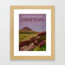 Connemara Ireland Travel Poster Vintage Style Framed Art Print
