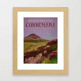 Connemara Ireland Travel Poster Vintage Style Framed Art Print