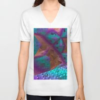 be brave V-neck T-shirts featuring Brave by Fractalinear