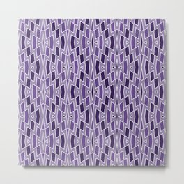 Fragmented Diamond Pattern in Violet Metal Print