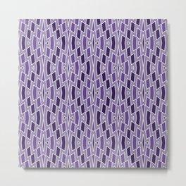 Fragmented Diamond Pattern in Violet Metal Print