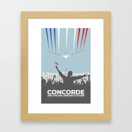 Concorde And The Red Arrows Flyover Framed Art Print