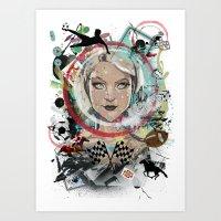 Alice in Wondergame  Art Print