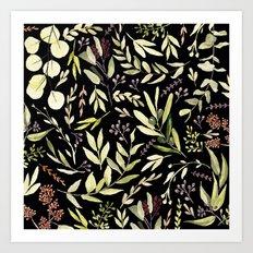 Eucalyptus in Autumn Art Print