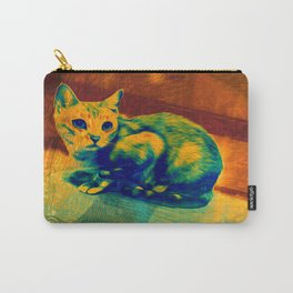The Cat in the Talavera Tile Carry-All Pouch