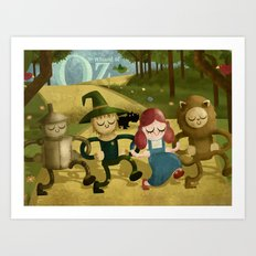 Wizard of Oz fan art Art Print