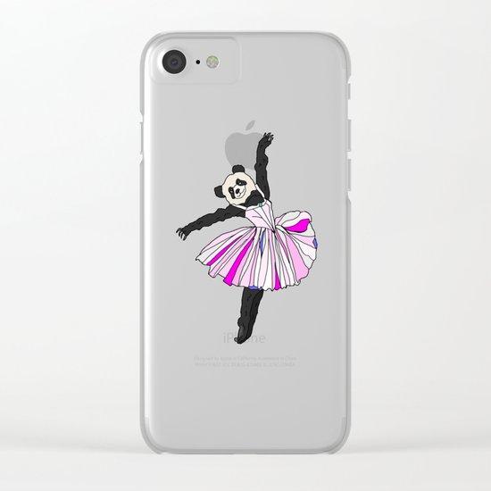 Panda Bear Ballerina Tutu Clear iPhone Case