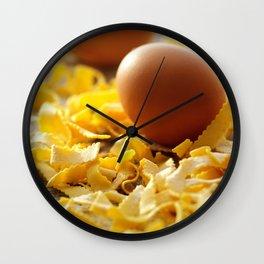Fresh italian Pasta with egg Wall Clock