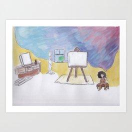 Artist Block Art Print