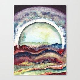 Full Moon Over Colorado Hills Canvas Print