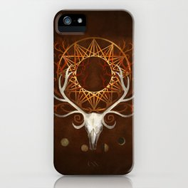Season Of The Moons Autumn Fire iPhone Case