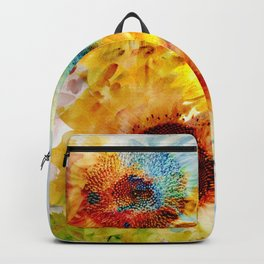 Watercolor Sunflowers Backpack