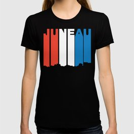 Red White And Blue Juneau Alaska Skyline T-shirt