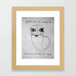 Ghosts are Friendly too Framed Art Print