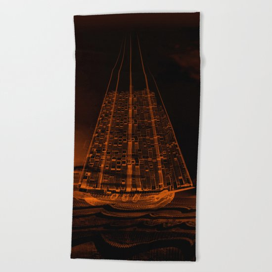 The Flying Dutchman / Legend, sepia 21-11-16 Beach Towel