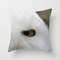 Keen look of the snow owl Throw Pillow