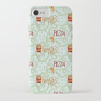 fries iPhone & iPod Cases featuring PIZZA & FRIES by Josh LaFayette