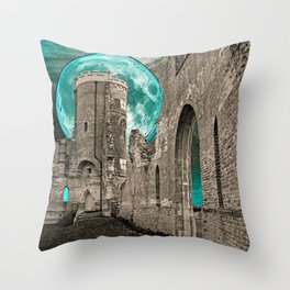 MOON FOLLY Throw Pillow