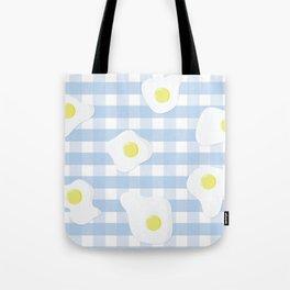 Sunny Side Up + Gingham Tote Bag
