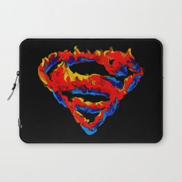 Superman in Flames Laptop Sleeve