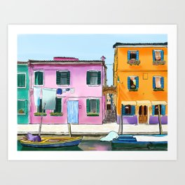 Colorful Houses in Italy Art Print