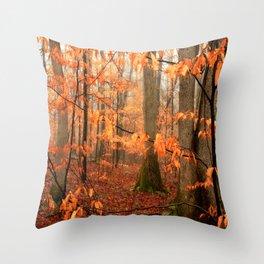 Mystic Autumn Forest Throw Pillow