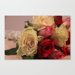 Say it with roses Canvas Print