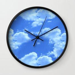 Blue Skies Photographic Pattern #1 Wall Clock