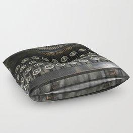 i'm a vintage type Floor Pillow