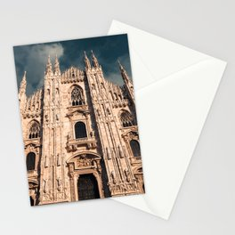 Milan Cathedral, Duomo di Milano, Gothic church, Lombardy, Milan photography Stationery Cards