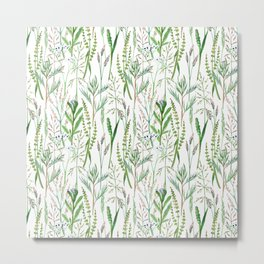 herbal pattern Metal Print