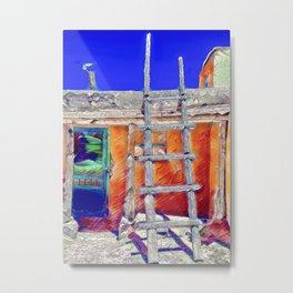 Pueblo with Kiva Ladder Metal Print