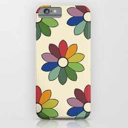 Flower pattern based on James Ward's Chromatic Circle iPhone Case