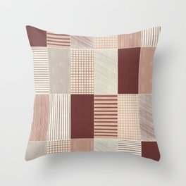 Rustic Tiles 03 #society6 #pattern Throw Pillow