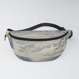 Magical White Cotton Clouds in Mystical Blue Sky Fanny Pack