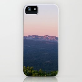 Purple Sierra Nevadas at Sunset iPhone Case