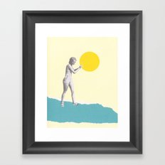 She Caught the Sun Framed Art Print