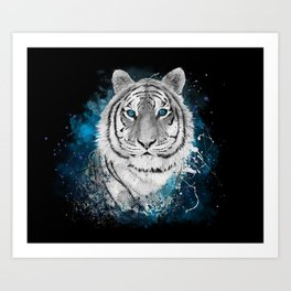 Tiger, don't stop...BE strong Art Print