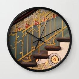 Art Nouveau spiral staircase Wall Clock