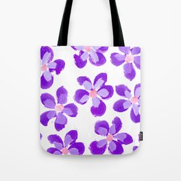 Posey Power - Purple Multi Tote Bag