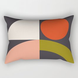 mid century bauhaus geometry square 1 Rectangular Pillow