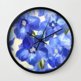 What You Always Needed - Delphinium Blue Wall Clock