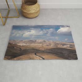 Road from Jerusalem to Jericho Rug