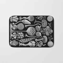 Slime Molds (Mycetozoa) by Ernst Haeckel Bath Mat